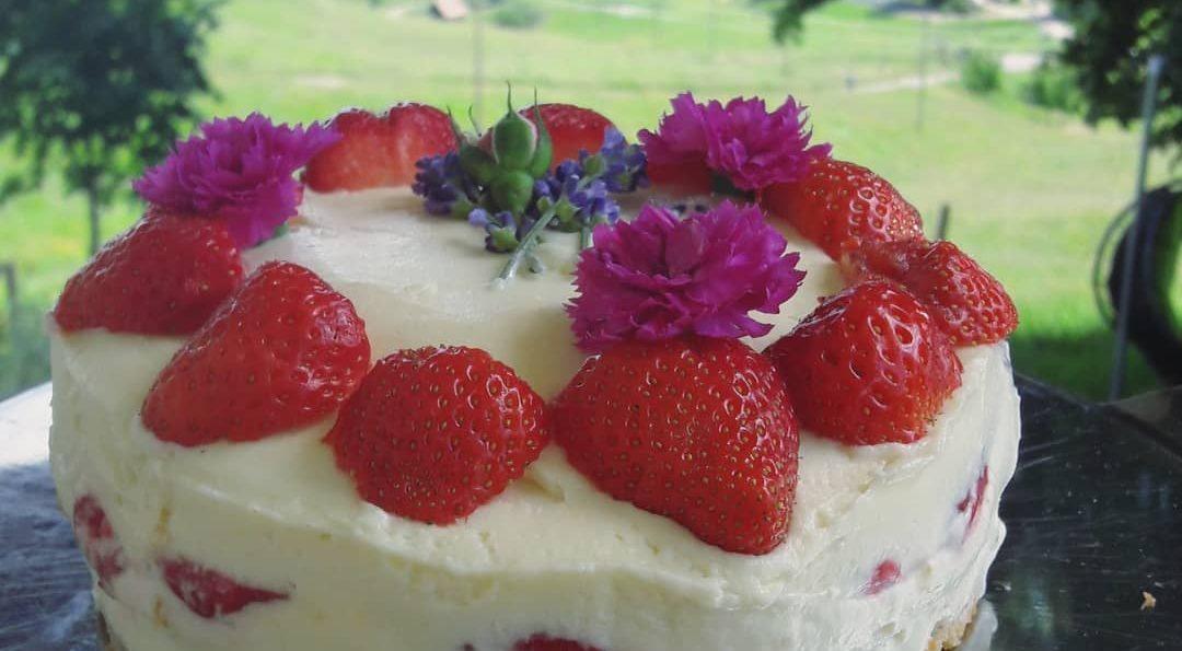 Das Erdbeer-Frischkäse-Weiße Schokoladen-Träumchen